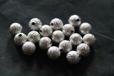 pour fabrication bijoux: perles shamballa, diamant argenté et petites fleurs lot