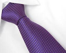 100%Seide Herren Krawatte Schlips Uni Gestreift Schwarz Rot Blau Weiss 8cm breit