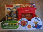 Fisher Price Little People Magic Of Disney Donald Popcorn Cart Fence Eddie NEW