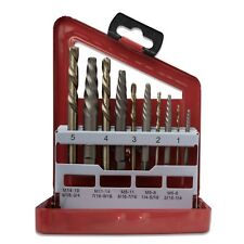 10pc Screw Extractor and Cobalt Left Hand Drill Bit Set,Bolt and Stud Removers