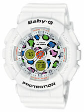Baby-G Ladies Leopard Collection White BA120LP-7A1