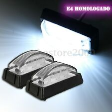 2x White 6 LED Side Marker Light Lamp Bus Truck Trailer Lorry Caravan 12V/24V E4