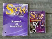 1ST GRADE Harcourt SOCIAL STUDIES Student Bundle Practice Book + Student Edition