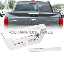 Chrome Tailgate Trunk Door Handle Cover w/ Camera Hole for 15-16 Ford F-150 CT