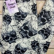 DoomsDay Skull Leggings Skeletons Day of the Dead Buttery Soft ONE SIZE OS