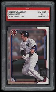 🌟2015 Aaron Judge Bowman Draft Rookie 1st Graded 10 New York Yankees Card #150