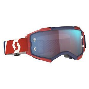 2021 SCOTT Goggle Fury Red/Blue Blue Chrome Works MX, Enduro, MTB.
