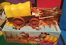 Vintage Battery Operated Covered Wagon Westward Ho Works Fine!