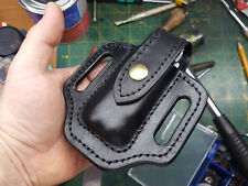 Leather pancake sheath for Leatherman Wave , Charge or other multitools.