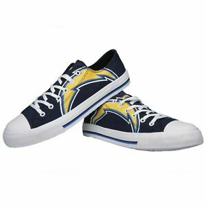 *NEW* Los Angeles Chargers NFL Men's Low Top Big Logo Canvas Shoes FREE SHIP
