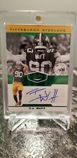 T.J. WATT 2019 PANINI PLATES & PATCHES GREEN AUTOGRAPH 12/20 AUTO STEELERS