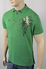 Polo Ralph Lauren Green Indian Head Custom Fit Distressed Mesh Shirt Polo NWT