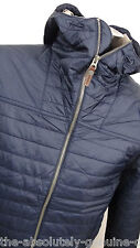TIMBERLAND Navy Blue Primaloft Padded Quilted Hooded Jacket S Water Resistant