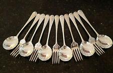 Vintage Rodd Silver Plate Jasmine Sweet Set 6 Spoon & 5 Forks.