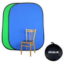 PhotR Photo Studio Blue Green Screen Chroma Key Cotton Popup Backdrop Background