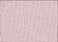 100% SOFT COTTON LIGHT RED/WHITE PLAID FROM OLD MILL OUTLET,ONE YARD.