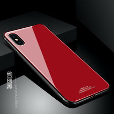 For Apple iPhone X Case Hybrid Thin Hard Glass Back Shockproof Mirror Lady Cover