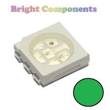 10 x Green PLCC-6 LED (SMD SMT 5050) - Ultra Bright - UK - 1st CLASS POST