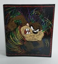 Looney Tunes Vintage Taz Curveback 3 Ring Binder 1998 Tasmanian Devil