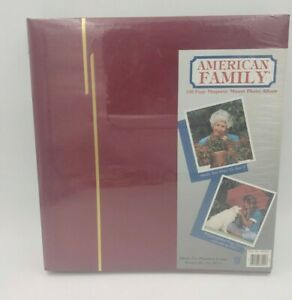 Magnetic Photo album scrapbook American Family new sealed 100 self stick pages