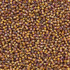 Toho taille 11/0 (2.2 Mm) Argent doublé rainbow Topaz perles de rocaille 8.2 g (L24/2)