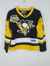 Crosby Pittsburgh Penguins White Reebok Youth Jersey with 50 Years Patch
