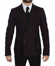NWT $2700 DOLCE & GABBANA Purple Torero Slim Fit Stretch Blazer Vest IT50/US40/L
