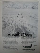8/1974 PUB LOCKHEED HERCULES ALASKA AIRLINES ICE ORIGINAL AD