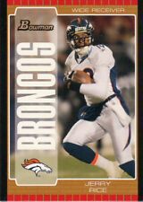 2005 Bowman Football Jerry Rice Denver Broncos Wide Receiver Record Card #92