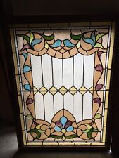 Rk 2 Antique Stainglass Landing Window 34 And Three-Quarter Inch By 47 1/2 Inch