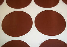 1000 Brown 45mm 1 3/4 Inch Colour Code Dots Round Stickers Sticky ID Labels