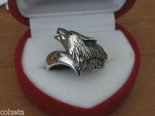 WOLF RING in .925 STERLING SILVER   wolves by Peter Stone
