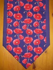 Navy Red Poppy Mini Table Runner Sideboard coffee table Decoration Setting Gift