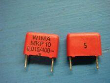 (10) WIMA MKP10 0.015/400/5 0.015uF 400V 5% POLYPROPYLENE CAPACITOR