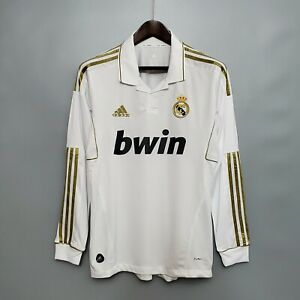 2011-12 Real Madrid Home Long Sleeve Retro Soccer Jersey
