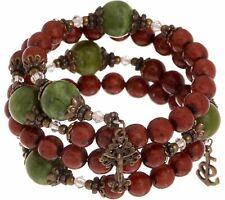 Coil Rosary Bracelet $93 Qvc Connemara Marble Red