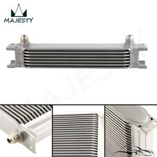 "7 Row 8AN Universal Engine Transmission Oil Cooler 3/4""UNF16 AN-8 Silver"