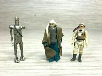 Vintage Lot of 3 Star Wars Action Figures IG-88 Bib Fortuna Hoth Luke Skywalker