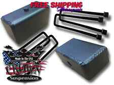 """Crown Suspension 1988-1999 K1500 Steel 4"""" Fabricated Lift Blocks Square Ubolts"""