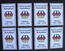 BRD Rückenschilder für Lindner Ringbinder u. andere da selbstklebende Folie