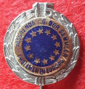 Anstecknadel IG der Sammler von Fussball-Emblemen in Europa 15 Jahre