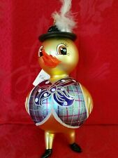 Christopher Radko Italian Blown Glass Ornament Boy Chick 2000