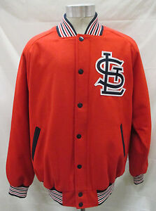 St. Louis Cardinals Men's LG Full-Zip & Snap Embroidered Logo Wool Jacket MLB