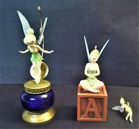 Hallmark Keepsake Ornaments Tinker Bell 2002, 2005 Mini Orn 2003  LOT-3