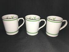 3 Royal Worcester Cafe Fleur Mugs