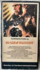 Blade Runner 1983 Argentina original VHS - Harrison Ford Ridley Scott