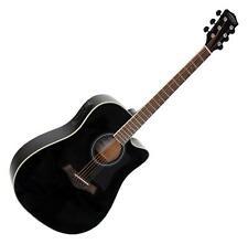 Guitare Electro Acoustique Folk Cutaway XLR Jack 3 Bandes EQ Accordeur Noir
