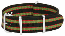 Nato Nylon Watch Strap 18mm Black Red Green Bracelet Bond Nato Band Correa Reloj