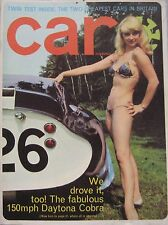 CAR magazine 11/1965 Featuring Shelby Daytona Cobra Coupe, Reliant Regal, Fiat