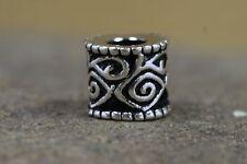 perle pour barbe argent celtique ORNEMENTS + caoutchouc cheveux bijou viking lot